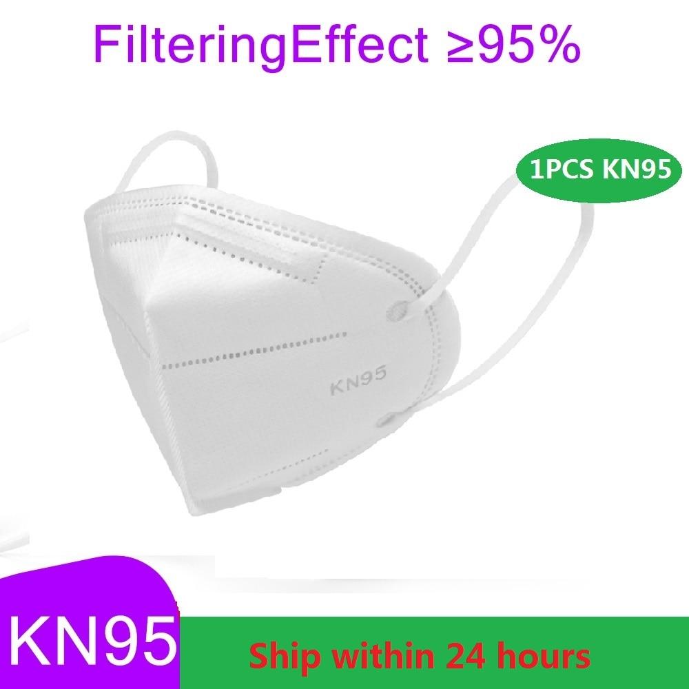 1pcs Pm2.5 N95 Masks Reusable KN95 Mask Valved Face Mask N95 Protection Face Mask White FFP1 FFP2 FFP3 Mouth Cover Filter New