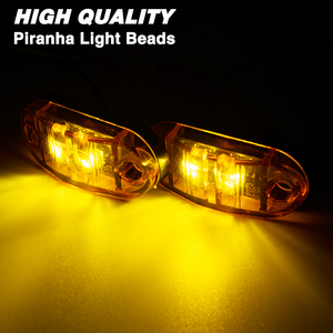 Image 5 - 4x 12V/24V Oval LED Side Marker Lights Lamp Universal Indicator of Position with Amber Bulbs for Truck Trailer Van Lorry Car Bus