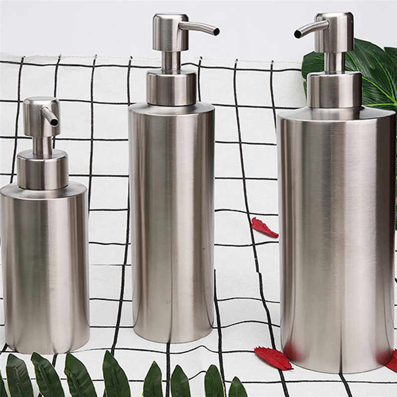 304 Stainless Steel Soap Dispenser Kitchen Sink Faucet Bathroom Shampoo Box  Soap Container Deck Mounted Detergent Bottle