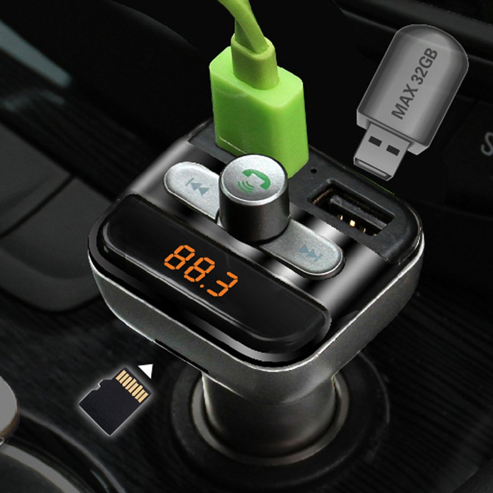 Portable Multi-Function Bt20 Car Mp3 Player Hands-Free Fm Transmitter Dual Usb Car Charger Tf Card To Mp3