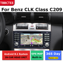 2Din For Mercedes Benz CLK Class C209 A209 2000-2010 Car Android Radio Multimedia Player GPS Navigation IPS Screen HiFi WiFi BT