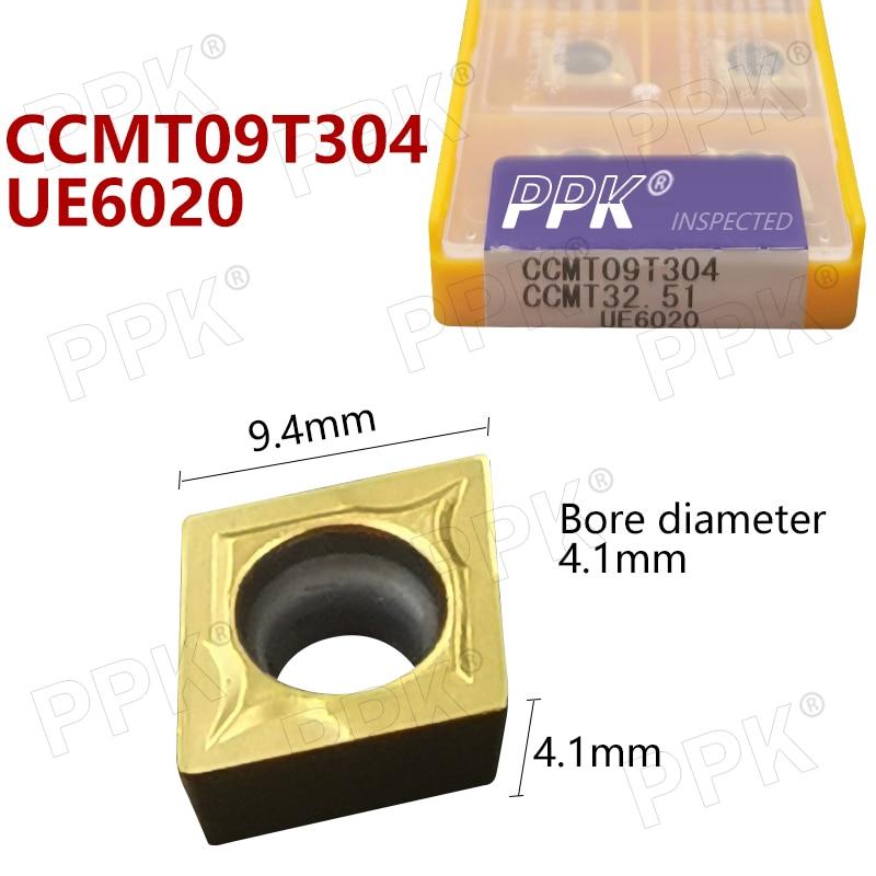 10pcs CCMT09T304 CCMT32.51 UE6020 Carbide Inserts Internal Turning Tool Face Endmills Lathe Tools Milling Cutter CNC Tool