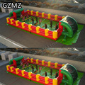MZQM 12x6m kids inflatable human foosball soccer field giant adults inflatable baby foot human sport game