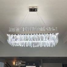 Plafonnier led suspendu au design moderne chromé, design rectangulaire, idéal pour un salon, une cuisine ou une salle à manger