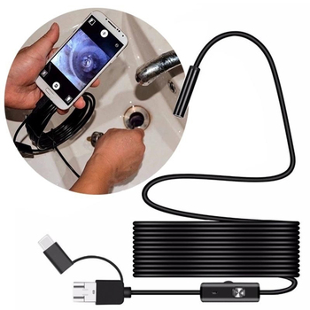 7.0mm Endoscope Camera HD Mini USB Endoscope 6LED Cable Waterproof Flexible Inspection Borescope for Android PC 1m 2m 5m 10m fuers 5 5m 7mm lens usb endoscope camera waterproof flexible wire snake tube inspection borescope for otg compatible android pc