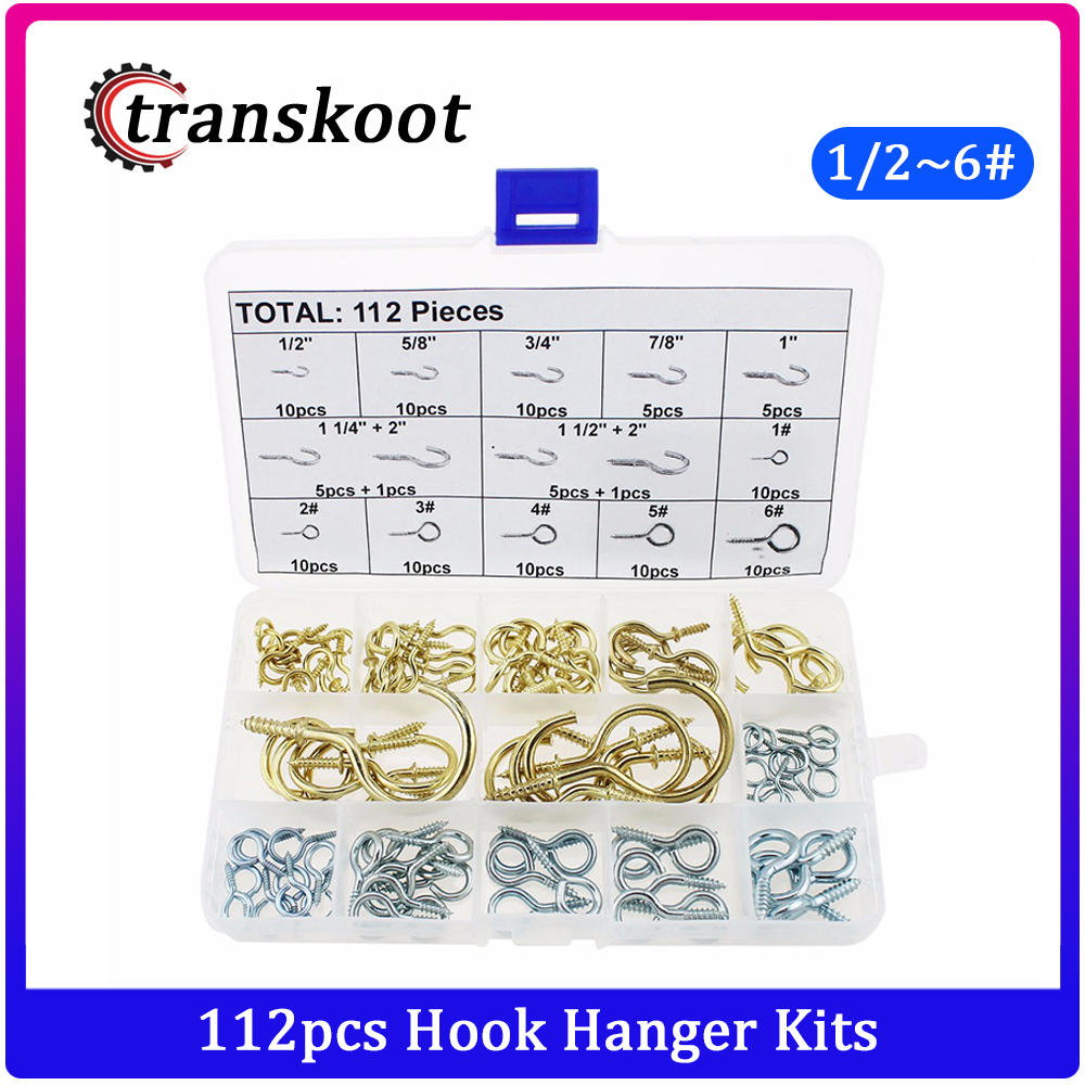 "1 3//4/"" to 2/"" length Gold//Brass Ornament Hooks"