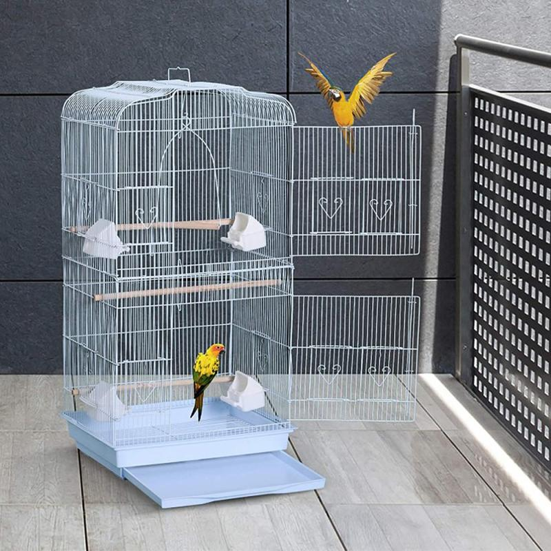 Large Bird Cage Cover Birdcage Easy Cleaning Seed Catcher Guard Bird Cage Accessories Airy Mesh Pet Parrot Bird Cage Net