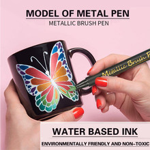 10 / 12 Marking Metal Color Pen Painting Art Sketch Waterproof Quick Drying Mark Crayon Maker Brush School Supplies