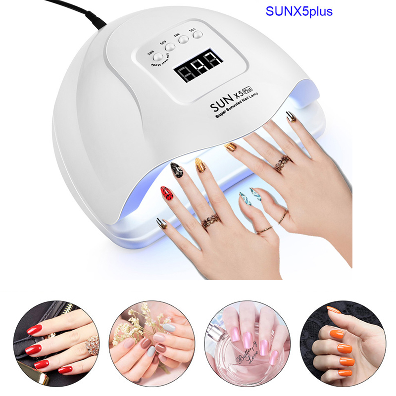 SUNX5 MAX 80W Nail Dryer For Nail LED UV Lamp LCD Display 36 LEDs Dryer Lamps For Curing Gel Polish Auto Sensing Nail Tool