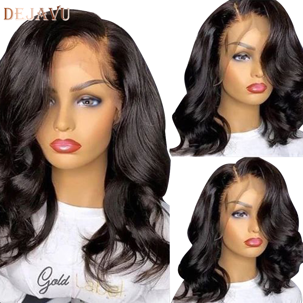 Dejavu Body Wave Lace Front Human Hair Wigs Remy Peruvian Hair Body Wave Wig 130 Density 13X4 Lace Front Wigs For Black Women