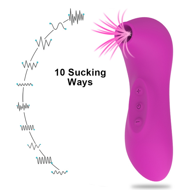 HIWUP Sex Sucking Toys Vibrator Powerful Clitoris Sucker Blowjob Tongue Stimulator Nipple Vagina Pussy Pump Sex Toys for Women 4