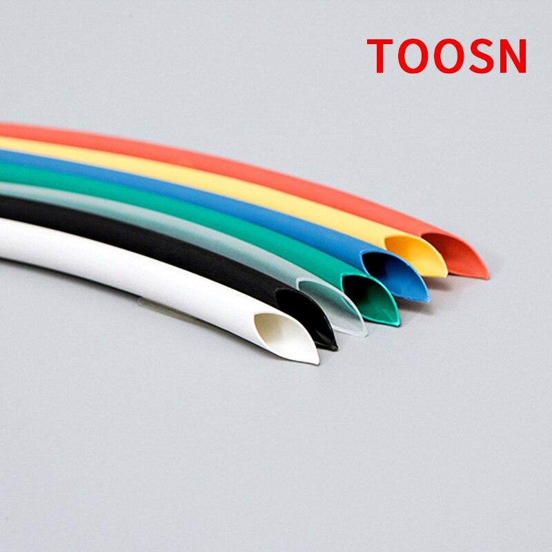 Термоусадочная трубка, диаметр 1 м, 2, 3, 4, 5, 6 мм, цвет черный, красный, зеленый, синий, желтый