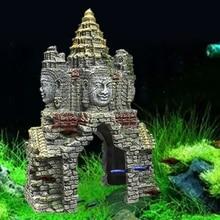 Ancient Cambodian Erawan Statue Fish Tank Landscaping Ornament Simulation Crafts Aquarium Decorations Fish Hiding Place Decor
