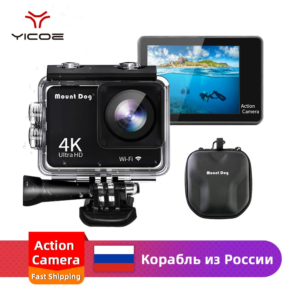 Camcorder Action-Camera Video Waterproof 30fps 4k Sports Housing-Case Remote-Control
