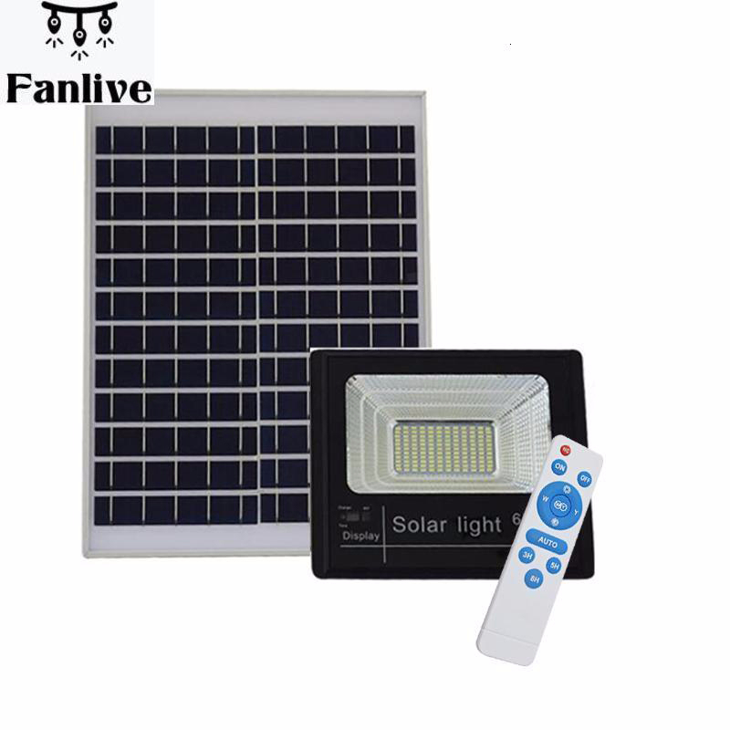 8pcs Outdoor Solar LED Flood Lights 40W 60W 120W Lamp Waterproof IP67 Lighting Floodlight Rechargable Battery Panel Power