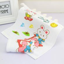 25*25cm Baby Nursing Saliva Towel Baby Infant Cartoon Face Hand Bathing Towel Bibs Feeding Appease Square Towels Handkerchief(China)