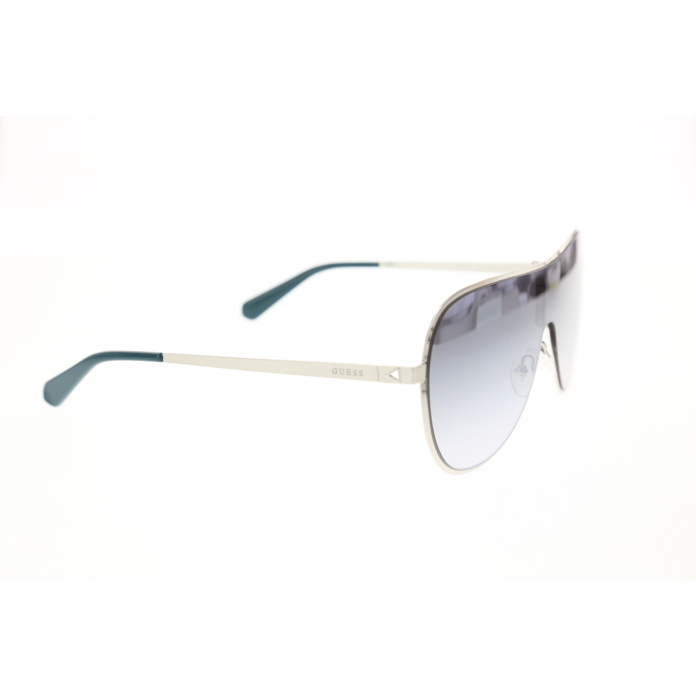 Women's sunglasses gu 5200 10c metal silver organic rectangle rectangular 62-12-145 guess