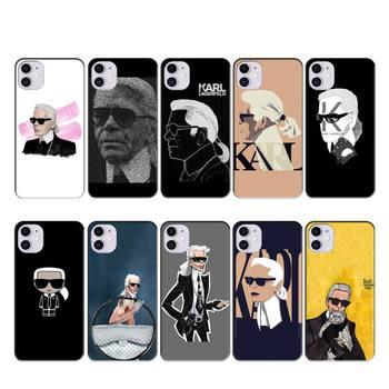 Перейти на Алиэкспресс и купить FFboost модный дизайнерский чехол KARLs coque fundas для iphone 11 PRO MAX X XS XR 4S 5S 6S 7 8 PLUS SE 2020