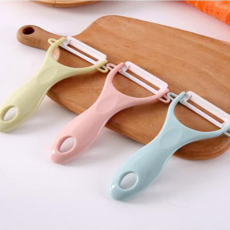 Креативный керамический нож для чистки картофеля, прочный кухонный многофункциональный нож 2 цветов, строгальный бытовой инструмент для чи...