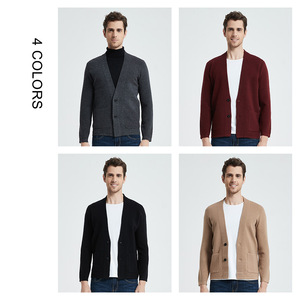 Image 5 - Coodrony marca camisola masculina streetwear moda camisola casaco masculino com bolsos outono inverno quente cashmere lã cardigan 91105