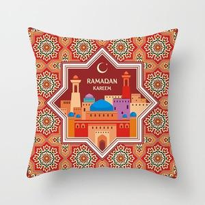 Image 2 - 45x45 ซม.ผ้าฝ้าย Ramadan Mubarak เบาะรองนั่ง Eid Mubarak ตกแต่งบ้านอิสลามมุสลิม PARTY Favors Happy Eid PARTY อุปกรณ์