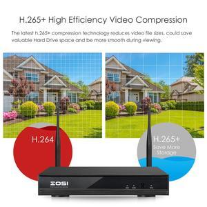 Image 5 - ZOSI 8CH 1080P H265+ Wifi NVR 2.0MP Security Camera System 2/6pcs IR Outdoor Waterproof CCTV Camera Wireless Surveillance System