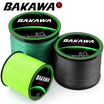 BAKAWA Braided Fishing line Pesca 4 Strands Carp Multifilament Fly Wire Japanese 100% Pe Line Saltwater 300M 500M 1000M New 2019 new 300m 500m 1000m 4 strands 8 80lb braided fishing line pe multilament braid lines wire smoother floating line