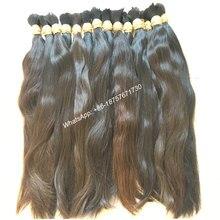 High Quality Natural Brown Virgin Remy Bulk Hair,Natural Hair Ponytail, Braiding Human Hair Bulk,Raw Bulk Hair,300Grams/Pack
