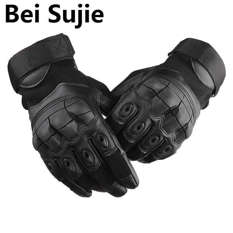Tactical Gloves For Outdoor Sports Climbing Camping Cycling Gloves For Men Full Finger Gloves Military Armor Protective Gloves
