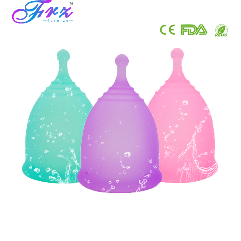 New style Sport Menstrual cup 100% Medical Grade Silicone Feminine hygiene Menstrual Cup Reusable Lady Cup Copa menstrual
