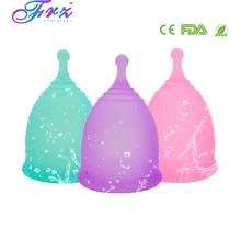 Nowy styl Sport menstruacyjny kubek 100% klasy medycznej silikonowe higieny kobiecej miesiączkowego puchar wielokrotnego użytku Lady cup Copa menstruacyjny