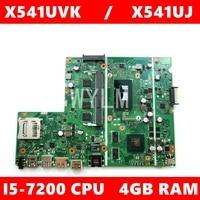 X541UVK i5-7200CPU 4GB RAM GT920M/2G For ASUS F541U X541 X541U X541UVK X541UJ Laptop Motherboard X541UVK Motherboard Test 100%OK