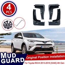 for Toyota RAV4 RAV 4 XA40 40 2013~2018 Car Mud Flaps Front Rear Mudguard Splash Guards Fender Mudflaps Flap 2014 2015 2016 2017