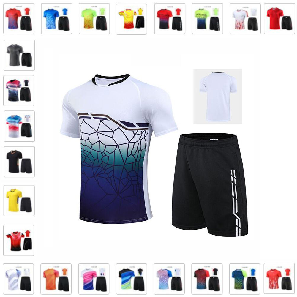 Men Women Tennis Shirt Shorts Sets , Youth Badminton Jersey Shorts Suits , Girl Table Tennis T shirt Clothes , Outdoor Sport Kit