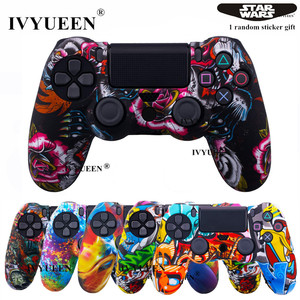 Image 1 - IVYUEEN 25 Colors Silicone Skin Case for Playstation Dualshock 4 PS4 Pro Slim Controller Protective Cover Thumb Joystick Grips