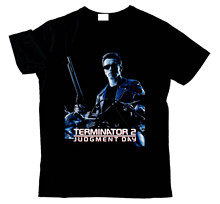 THE TERMINATOR 2 JUDGEMENT DAY ARNOLD SCHWARZENEGGER BBMT511 UNISEX T SHIRT Print T-Shirt Men Short Sleeve Top Tee Plus Size