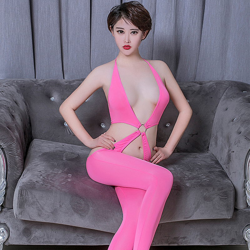 Sexy Women High Elasticity Porn Bodysuit Erotic Thin Section Transparent Open Crotch Body Bodysuits See Through Allure Catsuit
