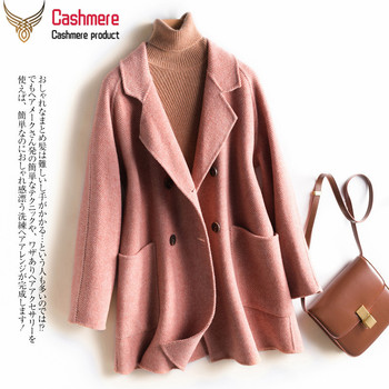 Short double-faced cashmere coat female 2019 autumn winter new Korean version of woolen wool coat female office women's clothing duoupa 2019 spring new handmade wool double faced coat woolen coat female long section was thin korean version