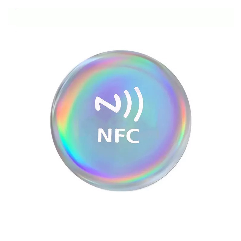 144 Bytes 13.56MHZ Diameter 30mm Anti Metal NFC Ntag213 Epoxy Labels/Sticker For All Cell Phone Social Share OneHop Tag