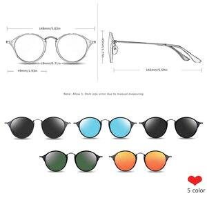 Image 2 - BARCUR 라운드 선글라스 여성 Steampunk 선글라스 Polarized Woman Sunglases Retro oculos masculino