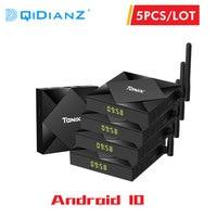 5 Pcs Tanix TX6S 4GB 32GB/64GB Caixa Smart TV Android 10 H616 8K x 4K 1080P Media Player Quad Core CPU Android 10.0 Set Top Box