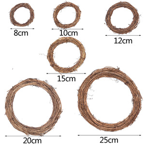 Image 5 - 8 30 センチメートルイースター花輪装飾クリスマスパーティー結婚式花輪の装飾品、自然ドライ花輪diy籐花輪にドア
