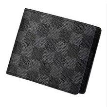 Luxo masculino couro do plutônio carteiras dos homens carteira de crédito titular do cartão de visita vintage bifold curto carteira bolsas alta qualidade carteiras