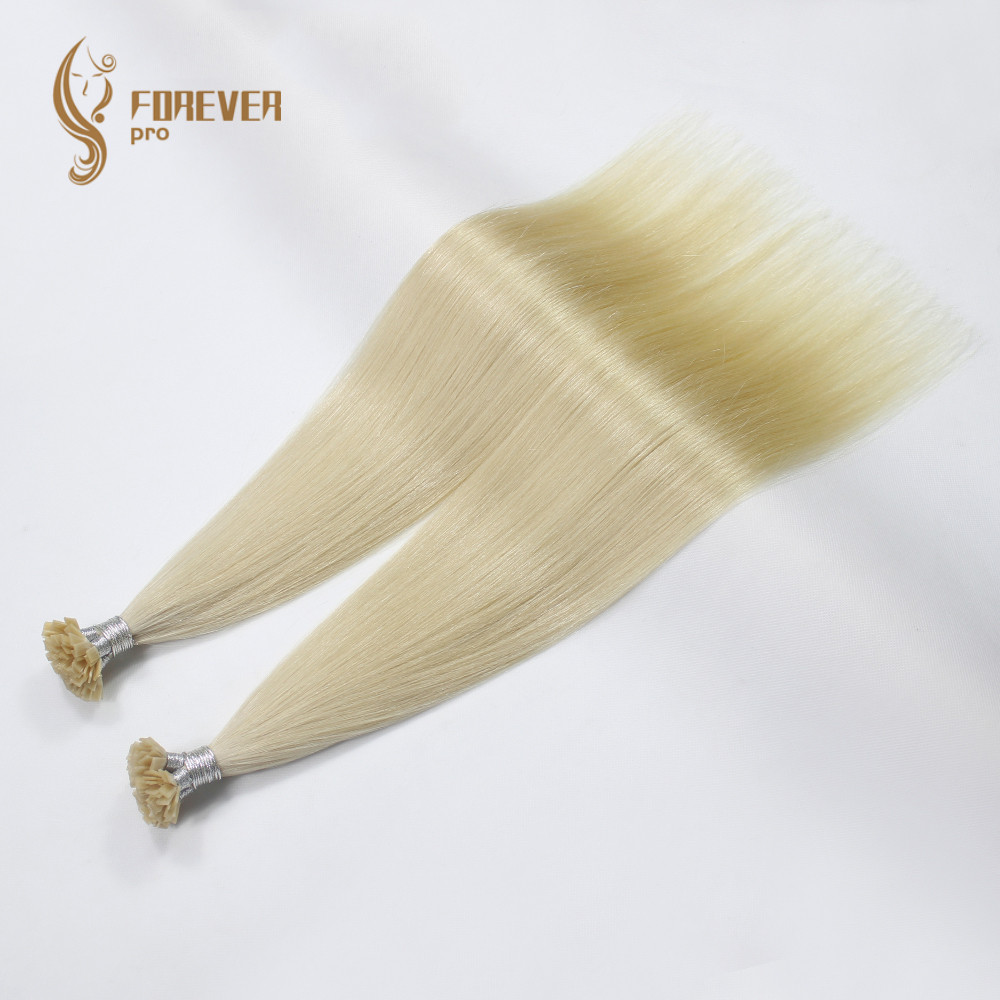 Forever Pro Hair 0.8g/s 14 16 18 20 22 Fusion Flat Tip Hair Extensions Real Remy Double Drawn Keratin Pre Bonded Human Hair