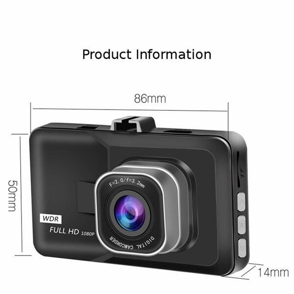 1 zestaw wideorejestrator samochodowy Full HD 1080P rejestratorów 3 cal rejestratora kamery samochodu cyfrowa kamera wideo rejestrator parkowania czujnik G kamera na deskę rozdzielczą