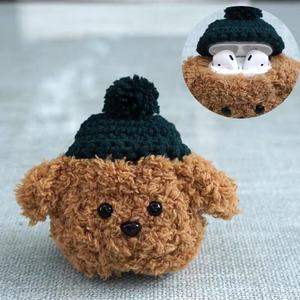Winter Plush Teddy Bear Case for Airpods 1 2 Bluetooth Earphone Charge Case Protective Cases Skin Accessories Headphones Case(China)