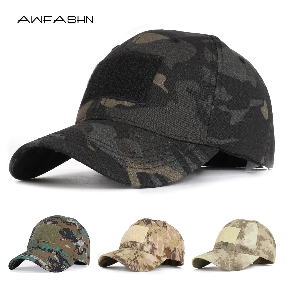 Camouflage Tactical Baseball Cap Snapback Hat Patch Military Tactical Unisex ACU CP Desert Camo Hats For Men Outdoor Bone Gorras