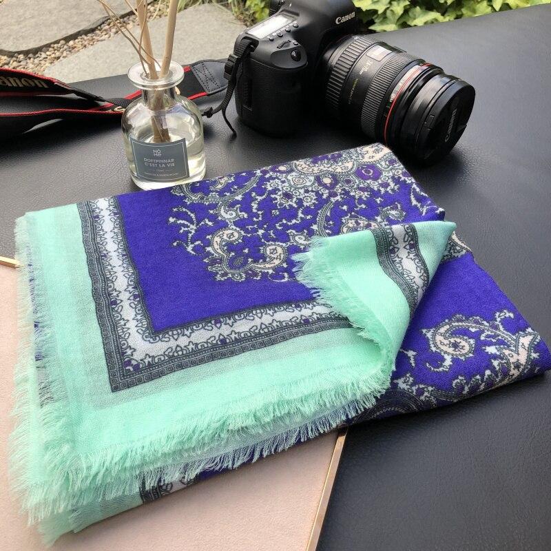 2019 nouveau Paisley impression écharpe femmes Pure cachemire foulards femme Bandana hiver doux châles enveloppes dame de luxe écharpe 200*100cm