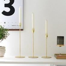 Nordic Decoration Home Metal Candle Holder Wedding Centerpieces Living Room Decor Candlestick świecznik