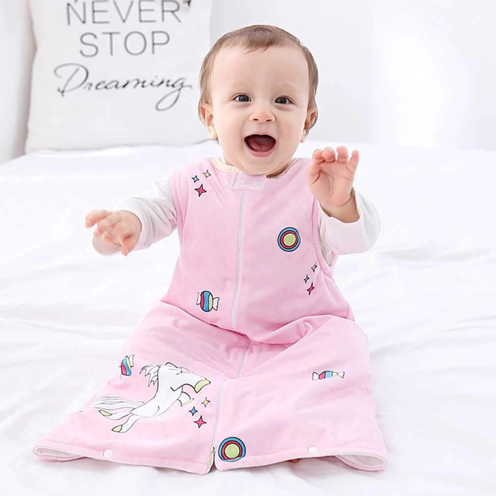 MICHLEY Baby Unisex Sleep Bag Newborn Wearable Blanket Sleeping Sack Soft Flannel Swaddle Sleeveless Sleepsuit For 0-3 Years Old